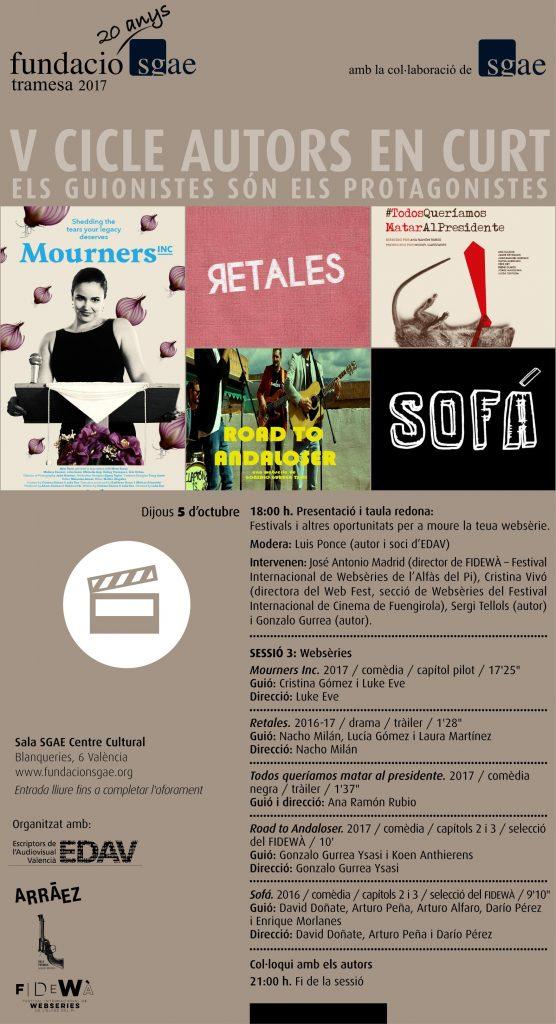 Directors de festivals de websèries i autors es reuniran a València
